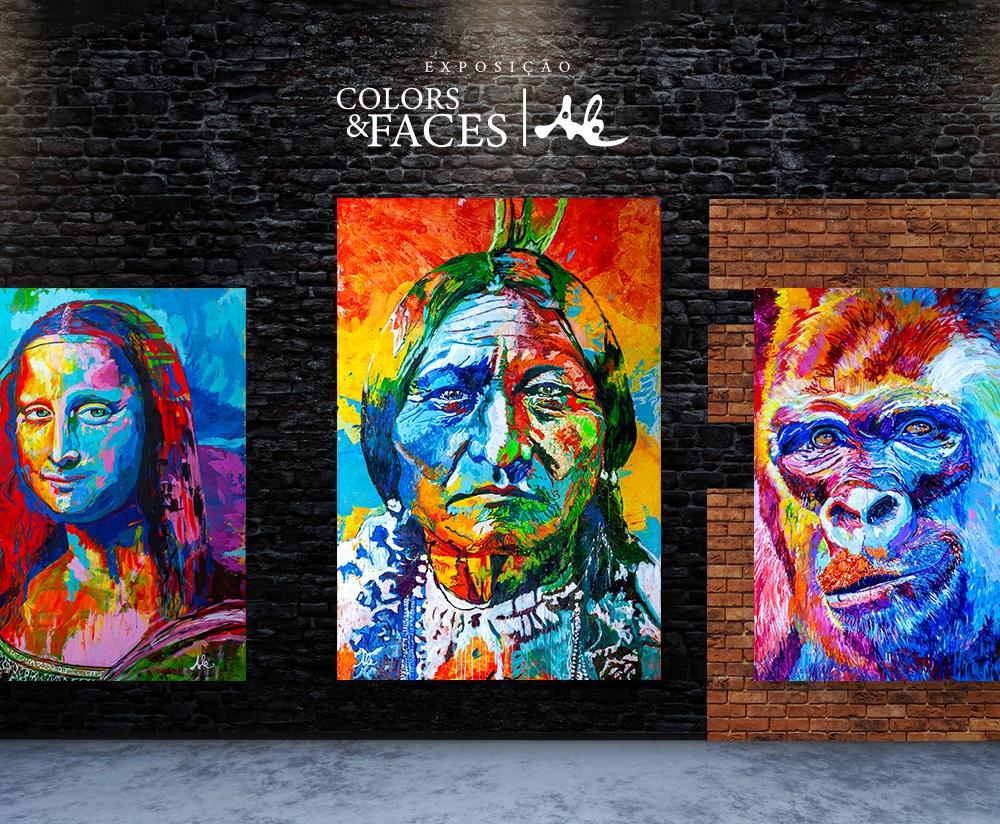 A exposição trás personagens conhecidos do grande público. * Monalisa * Touro Sentado * Gorilla
