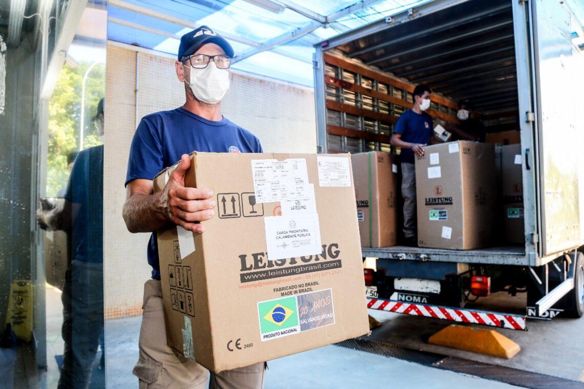 Novos materiais para UTIs exclusivas do coronavírus chegam em Maringá