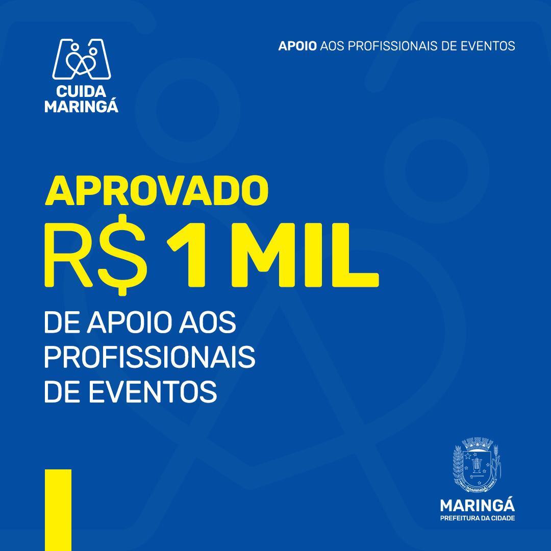 Mil profissionais de eventos receberão auxílio financeiro em Maringá; lista dos aprovados será publicada hoje