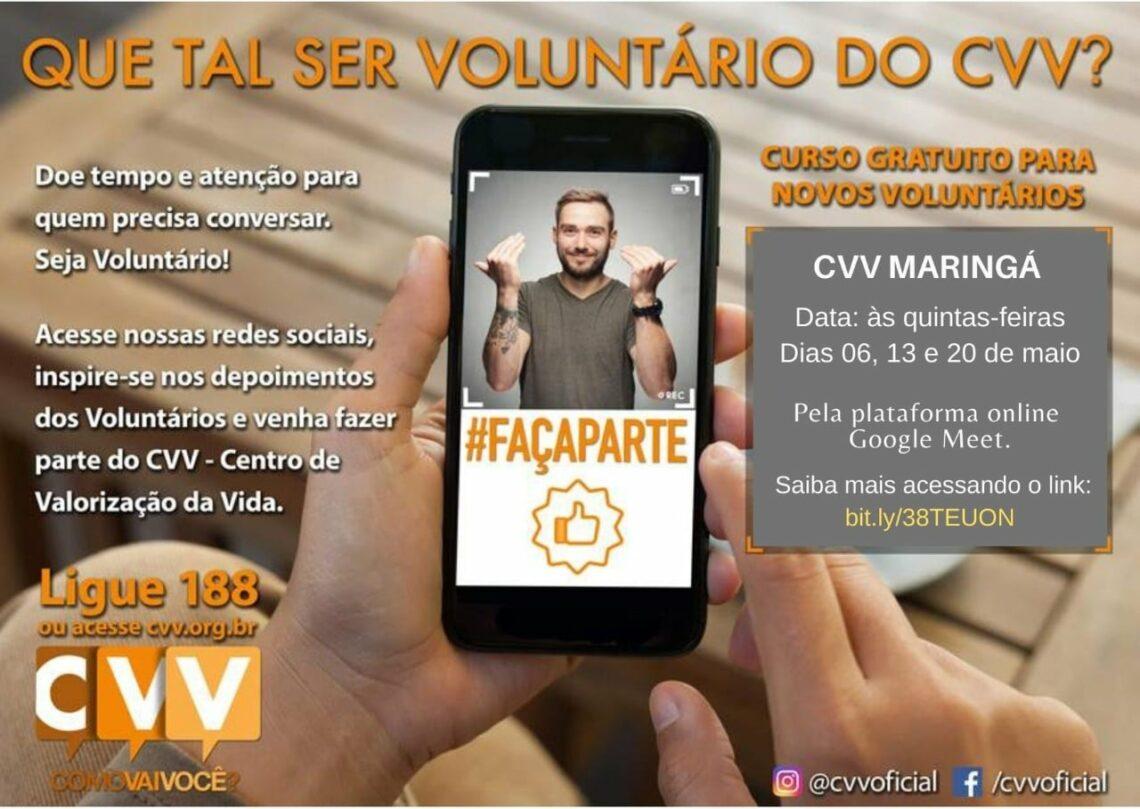 CVV precisa de voluntários