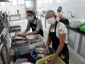 Pescada ao molho apimentado é a marca registrada do cardápio do Centro Cultural São Francisco Xavier