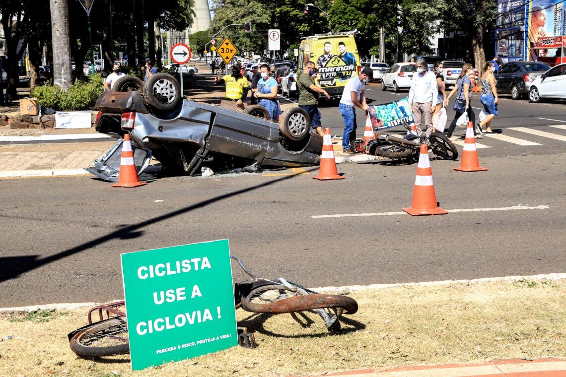 9 vítimas fatais de sinistros de trânsito marcam o mês Maio Amarelo em Maringá