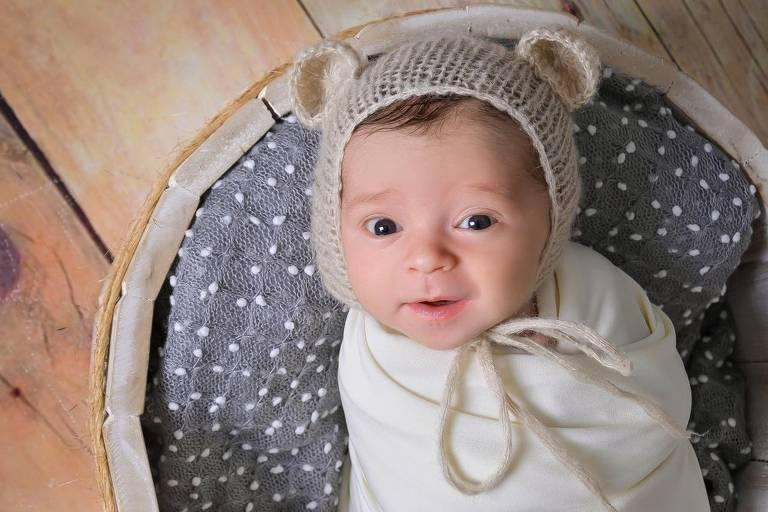 Enrico será testado novamente aos três e aos seis meses de idade. Crédito: Talita Menegali Izidoro/Arquivo pessoal