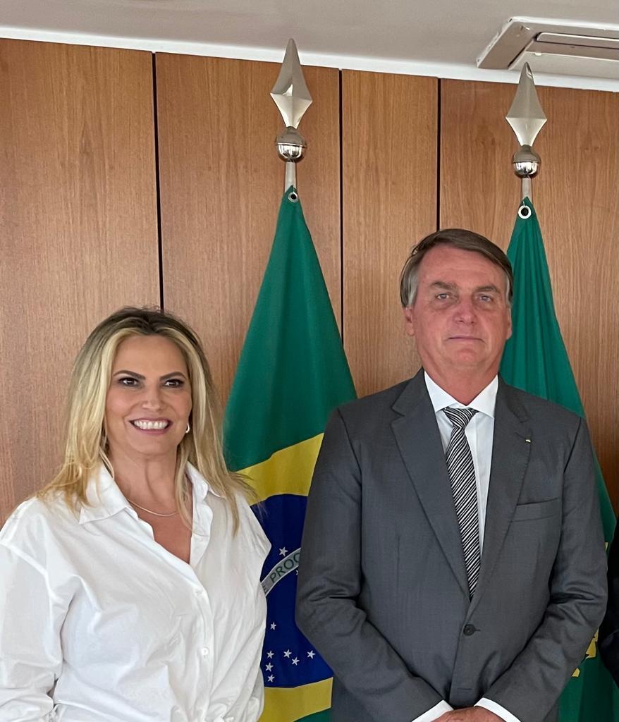 Cida Borghetti e Jair Bolsonaro