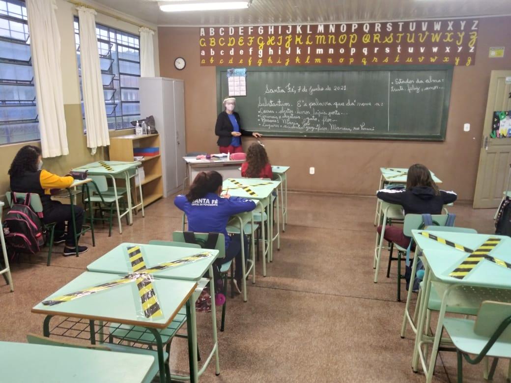 Aulas presenciais para os quintos anos de escolas municipais de Santa Fé retornam nesta segunda-feira