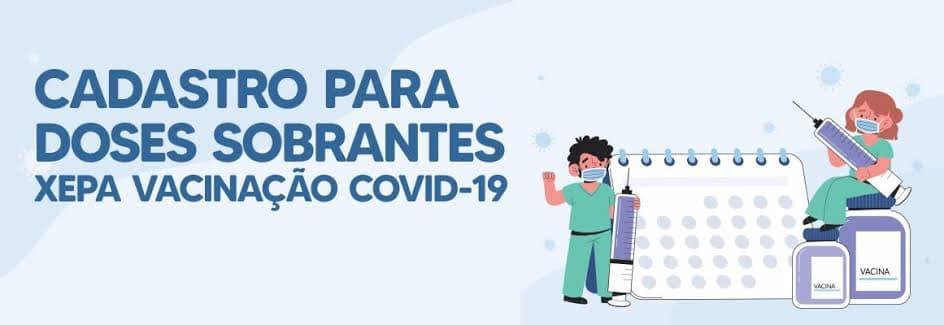 """Pessoas com mais de 18 anos e sem comorbidades podem se cadastrar para receber a """"xepa"""" dos imunizantes em Santa Fé"""