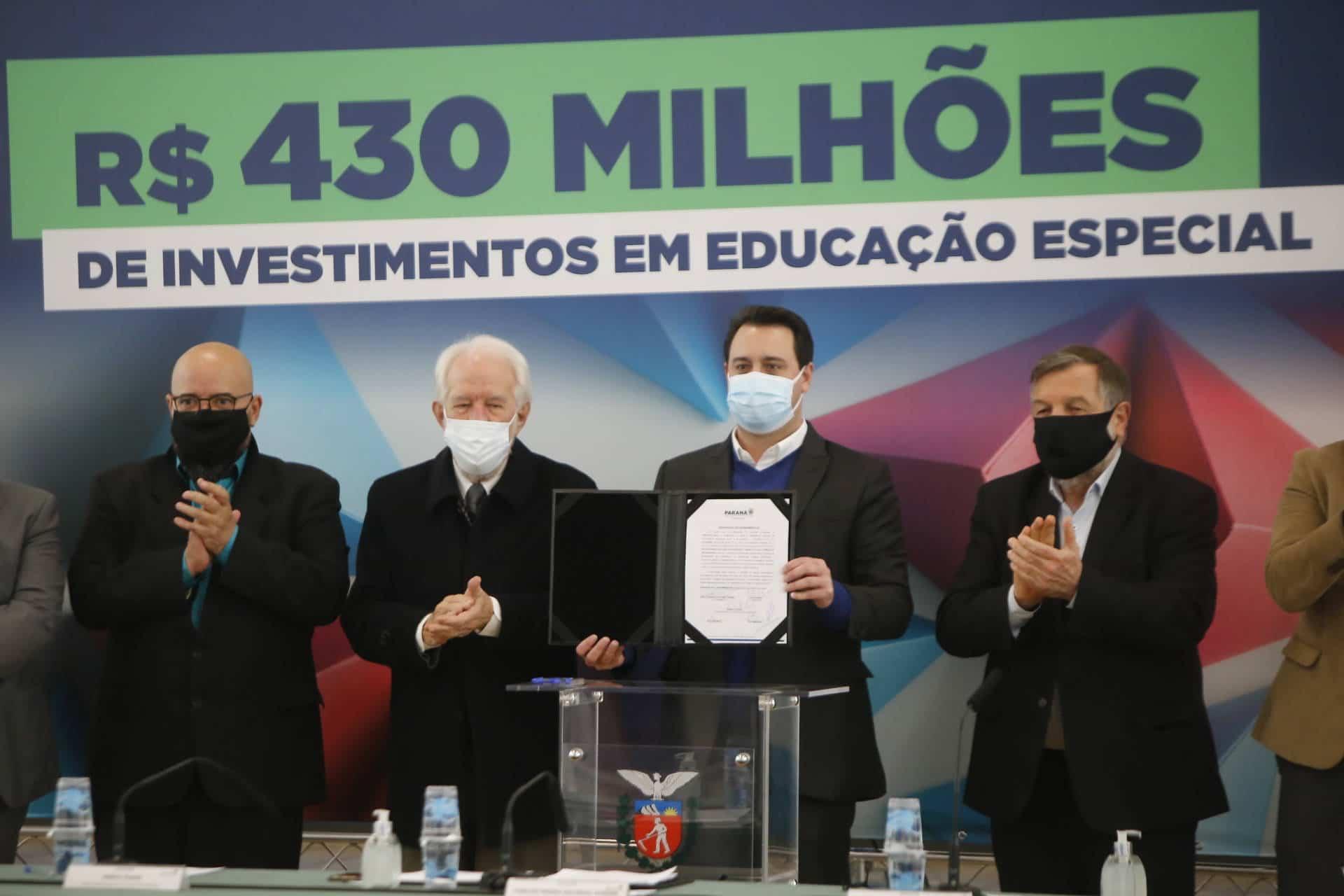 Educação especial do Paraná receberá o investimento de aproximadamente R$ 432,3 milhões do Governo do Estado
