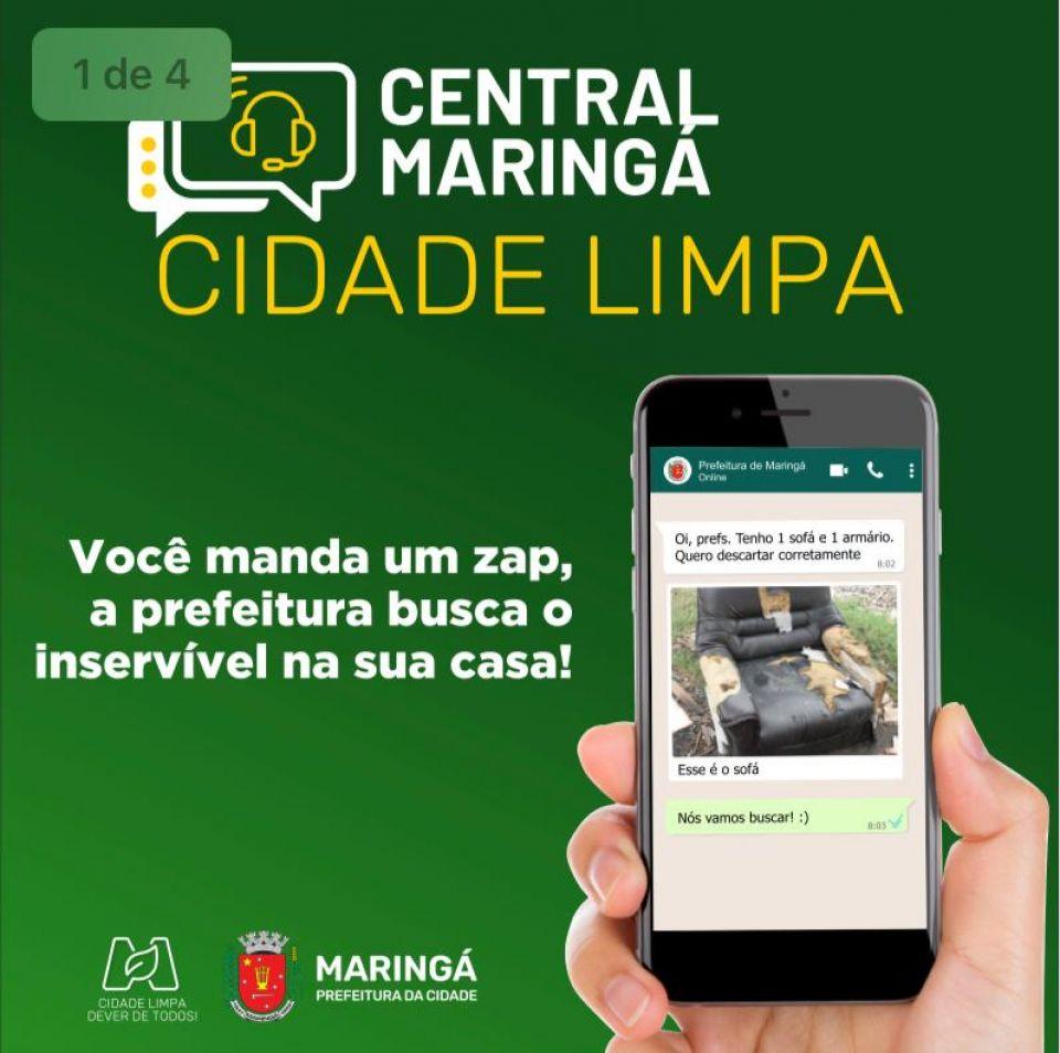Prefeitura de Maringá inicia projeto Central Maringá Cidade Limpa hoje