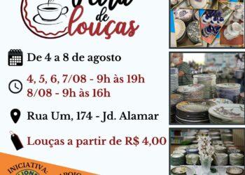Lions Clube Cidade Canção promove Feira de Louças em Maringá
