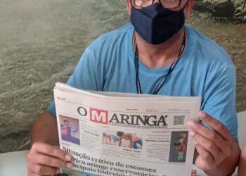 """Jornal O Maringá recebe visita do assessor especial do governador Ratinho Junior, José Aparecido Alves """"Jotapê"""""""