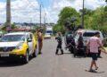 Homicídio em área de lazer na zona norte de Maringá. CRÉDITO: Repórter Corujão