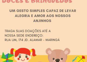 Projeto Família Sopão realiza Campanha de arrecadação de doces e brinquedos