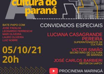 "Procinema Maringá realiza o bate-papo ""Simplificando a cultura do Paraná"" nesta terça-feira"